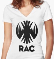 RAC Crest - Reclamation Apprehension Coalition Women's Fitted V-Neck T-Shirt