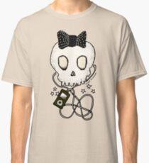 Girly Skull with Black Bow / Die for Music Classic T-Shirt