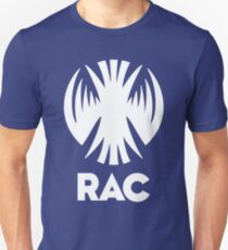RAC Crest in White- Reclamation Apprehension Coalition T-Shirt