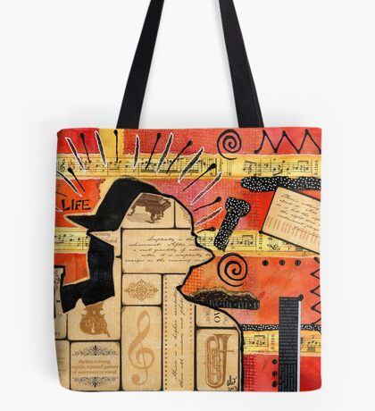 Music is My Sanctuary Tote Bag