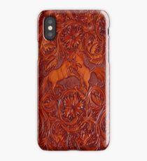 wild horses leather iPhone Case/Skin