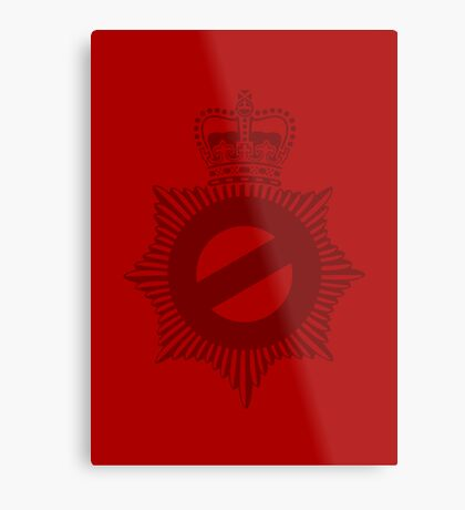 Not My Division - Badge Only Edition Metal Print