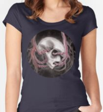 Skull Impression I Women's Fitted Scoop T-Shirt