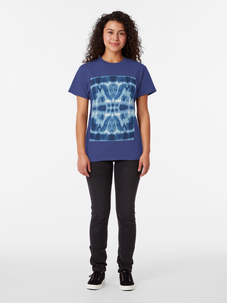 Alternate view of Tie-Dye Blues Twos Classic T-Shirt