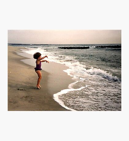 Leaping For Joy - Waves Come Get ME! Photographic Print
