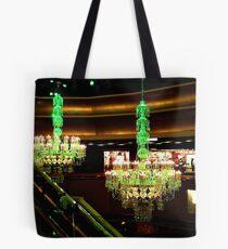 The Amazing Chandeliers at the Trump Taj Mahal, Atlantic City NJ - green tint Tote Bag