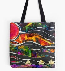 Three Ships - Let's Sail Away Tote Bag