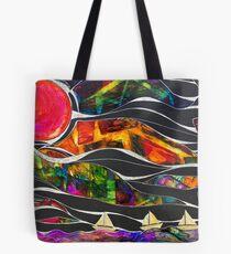 Three Ships - Let's Sail Away Tote Bag