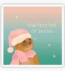 Dressing up for snow Sticker
