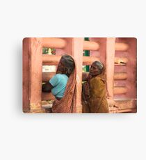 Beggars in Bodhgaya Canvas Print