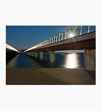 BARWON HEADS BRIDGE UNDER MOONLIGHT Photographic Print