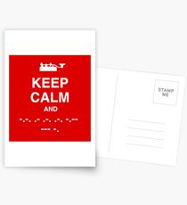 Keep Calm and Carry On - Morse Code T Shirt Postcards