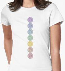 seven chakras Women's Fitted T-Shirt
