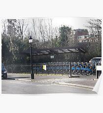 Bike/Car park/London Zoo -(190212)- digital photo Poster