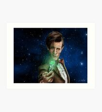 11th Doctor Caricature  Art Print