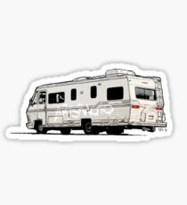 Artsmoto RV Dripping Paint (white) Sticker