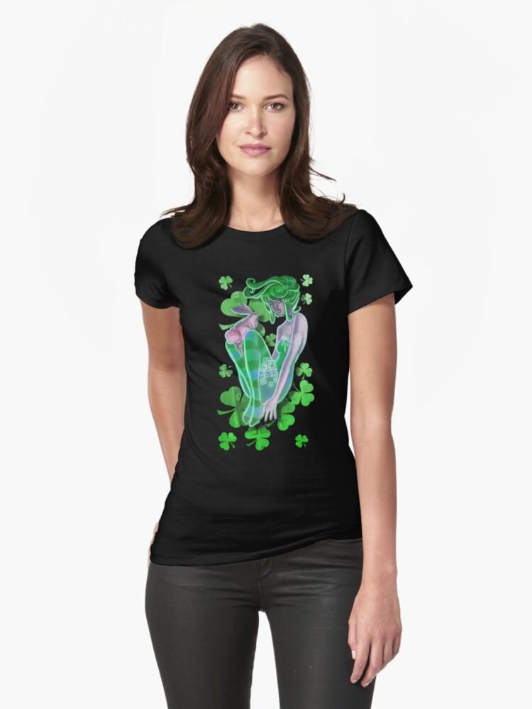 Irish Pinup Lady with a Bunny T-shirt by SaradaBoru