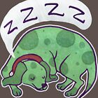 Sleepy Green Puppy T-shirt by SaradaBoru