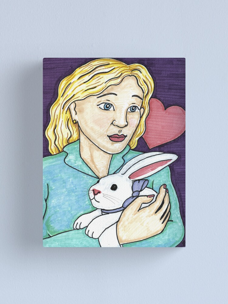 Alternate view of Gift of the White Rabbit Canvas Print