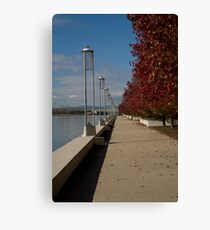 Path by Lake Burley Griffin Canberra Canvas Print