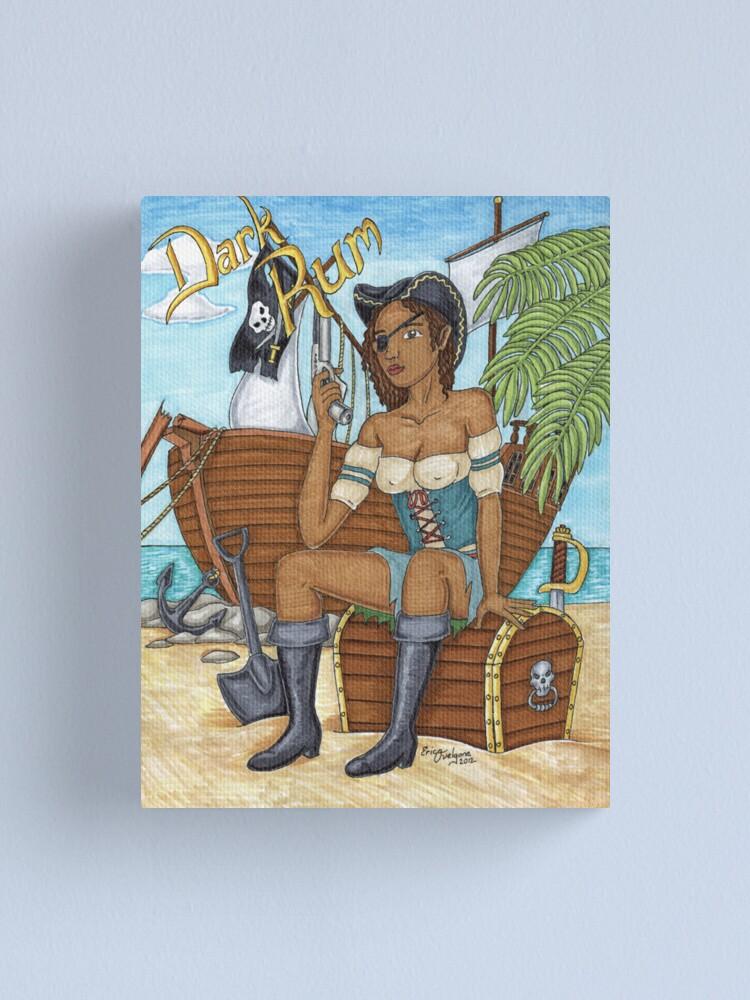Alternate view of Dark Rum Pirate vers 2 Canvas Print