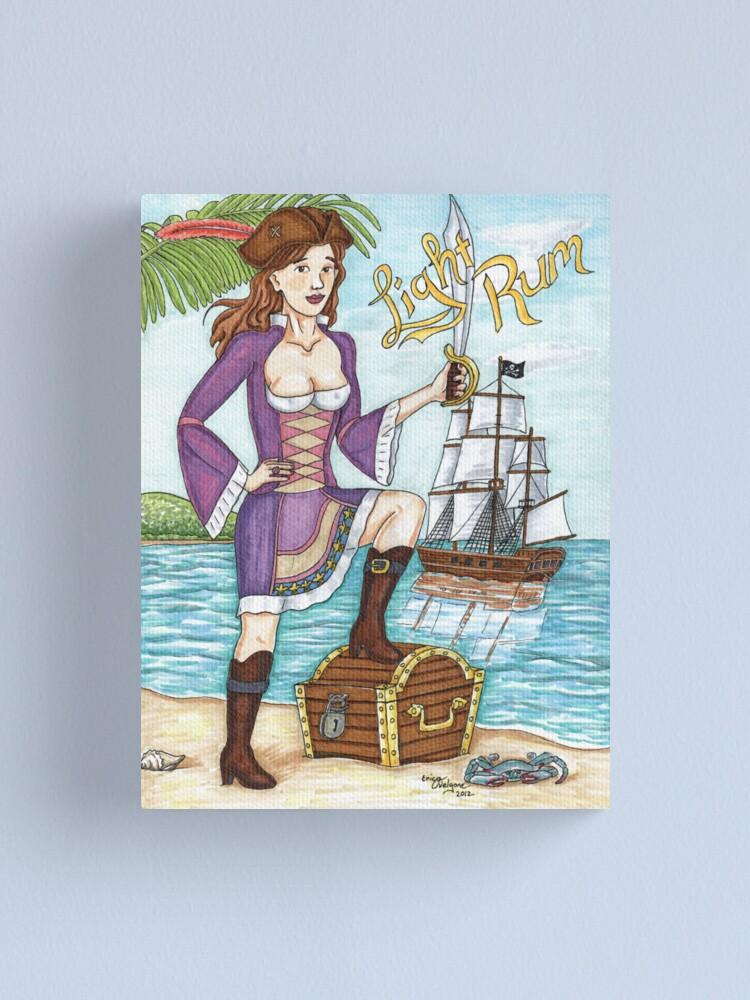 Alternate view of Light Rum Pirate ver 2 Canvas Print
