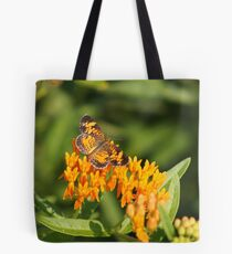 Pearl Crescent on Butterfly Weed Flowers 1 Tote Bag