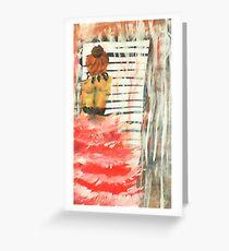 Longing, watercolor Greeting Card
