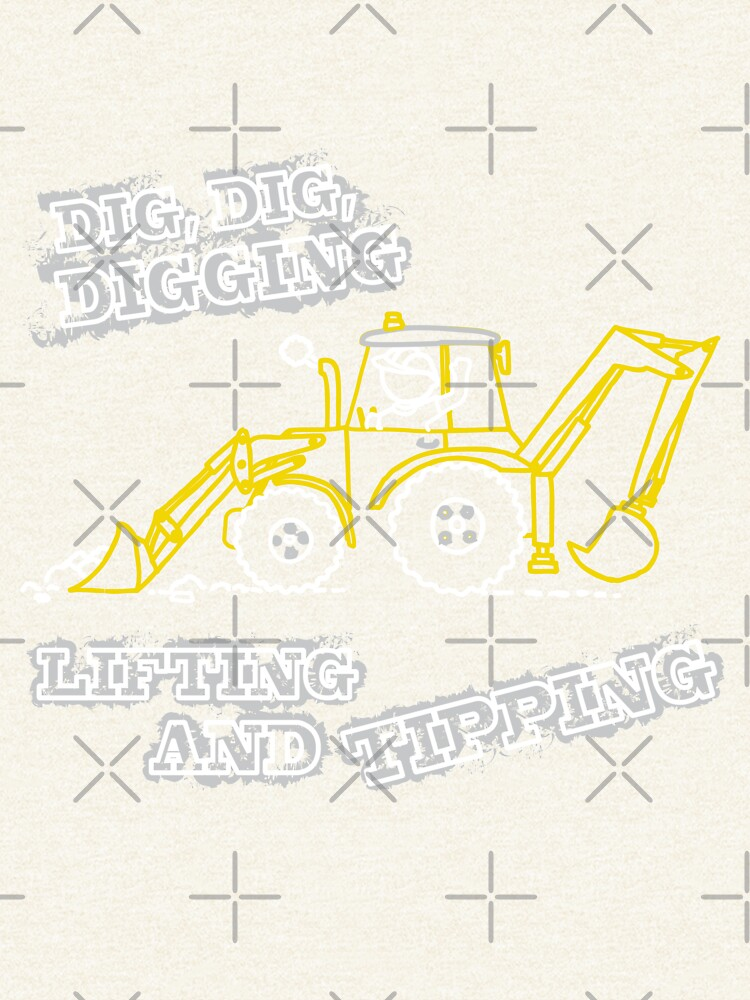 Dig, Dig, Digging tractor construction graphic by sarahtrett