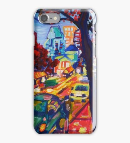 Rushing From Downtown iPhone Case/Skin