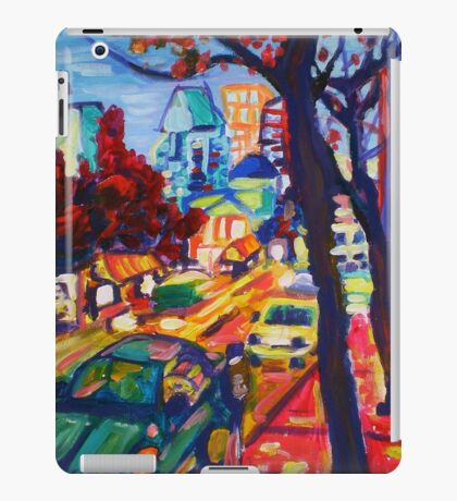 Rushing From Downtown iPad Case/Skin