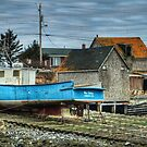 Port Maitland Fishing Boat by Debbie  Roberts