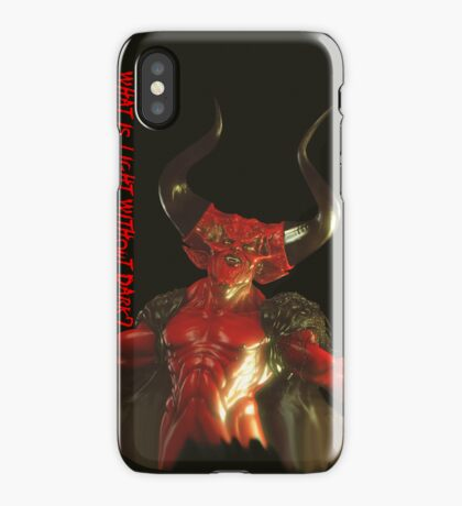 Lord of Darkness - What is light without dark? iPhone Case/Skin