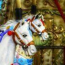 Carousel Horses in Kissimmee, FL by Debbie Robbins