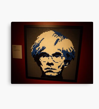 Lego Andy Warhol, Art of the Brick Exhibition, Discovery Times Square, New York City, Nathan Sawaya, Artist Canvas Print