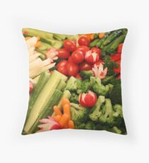 Vegetables Throw Pillow