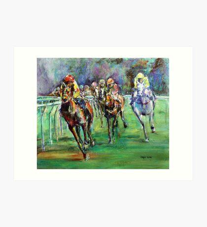 Racing Colours number 2 Art Print