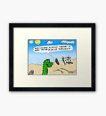 Earthlings or Marslings cartoon Framed Print