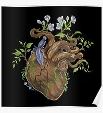 Heart - Wood Poster