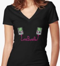 Let's Battle! Women's Fitted V-Neck T-Shirt