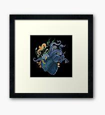 Heart - Ocean Framed Print