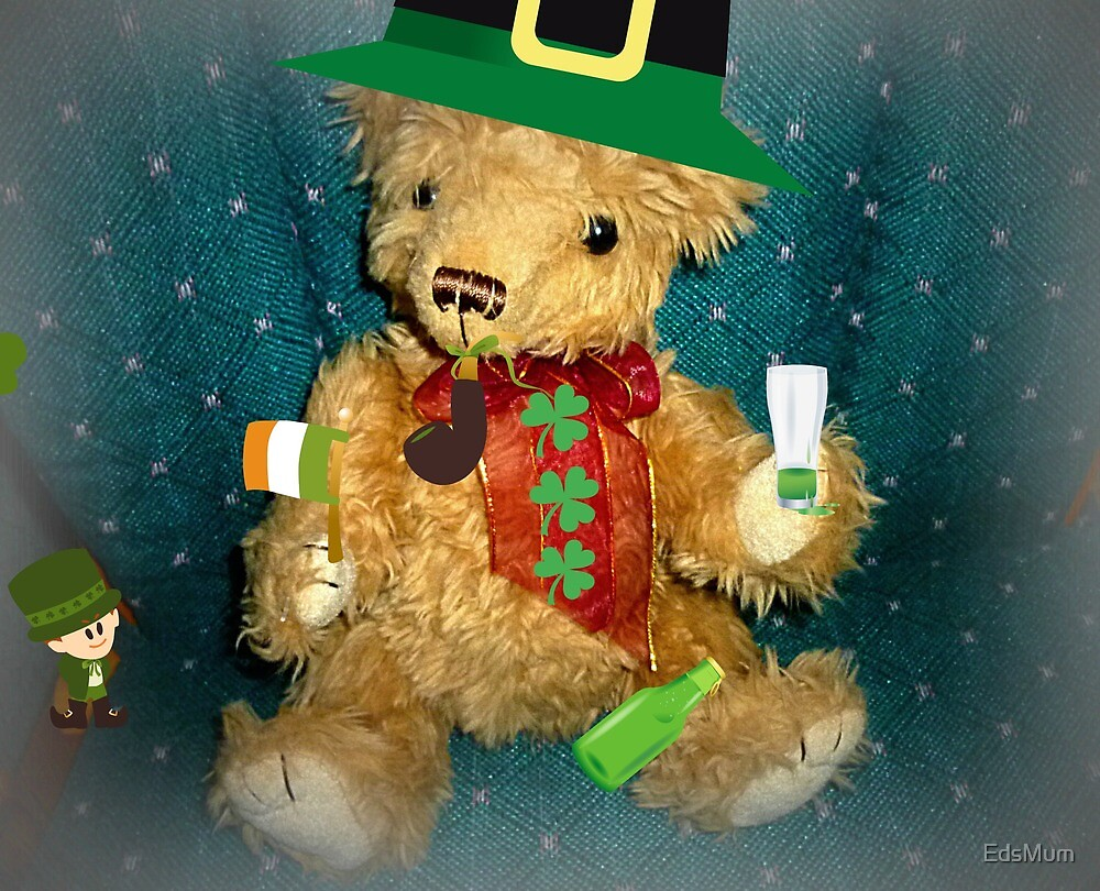 Teddy dressed for St. Patrick's Day by EdsMum
