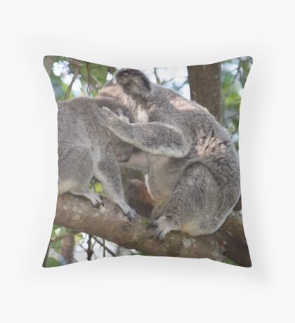 Loving Koala Mum & Bub In Our Trees Throw Pillow
