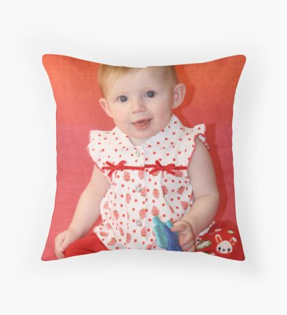 Our Little Redhead at Six Months Throw Pillow