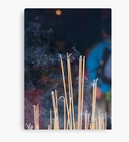 Tin Hau Temple, Shek O, Hong Kong - joss sticks Canvas Print