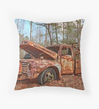 Old Ford F4 Tow Truck Throw Pillow