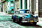 American car, early morning, Havana, Cuba by David Carton