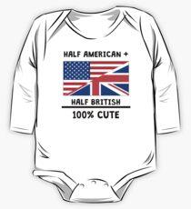 Half British 100% Cute One Piece - Long Sleeve