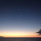 Sunset with New Moon and Venus - Puesta del Sol con Luna Nueva y Venus by PtoVallartaMex