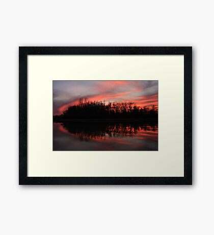 Jellyfish Sunset Framed Print